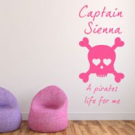 Personalised Pirates Life for Me ~ Wall sticker / decals - Version 2